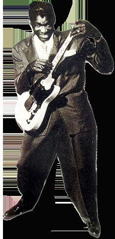 dj monette - guitariste noir